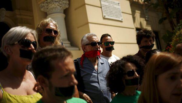 Protesta contra la Ley Mordaza - Sputnik Mundo