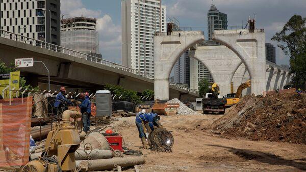 Сonstrucción del metro de Sao Paulo, Brasil - Sputnik Mundo
