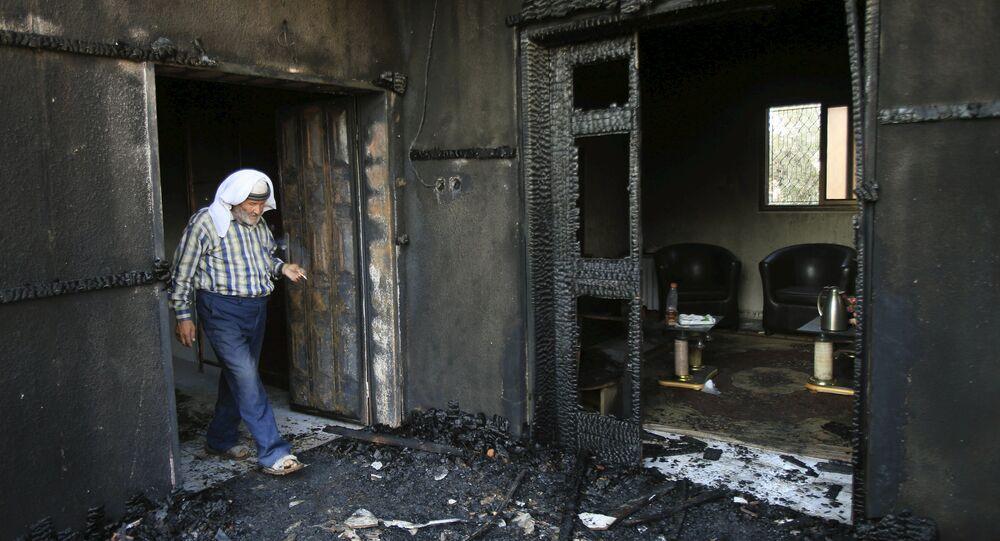 Casa en el pueblo de Duma después de un ataque (archivo)
