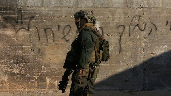 Militar israelí en Cisjordania (archivo) - Sputnik Mundo