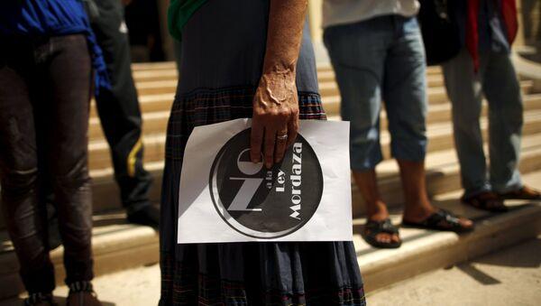 """Protesta contra la """"Ley mordaza"""" en Málaga - Sputnik Mundo"""