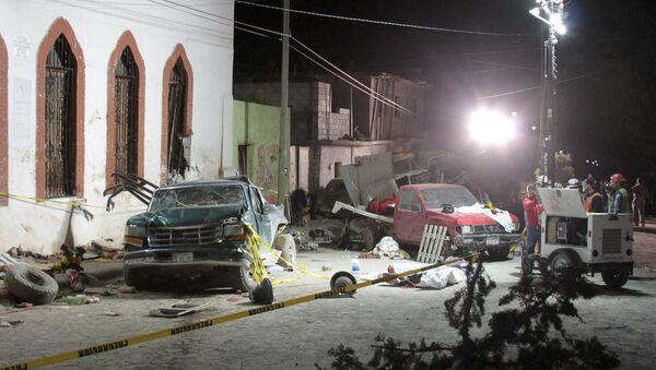 Lugar del accidente en Mazapil, México - Sputnik Mundo