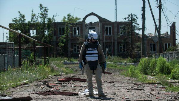 Observadore de la OSCE en Donetsk - Sputnik Mundo