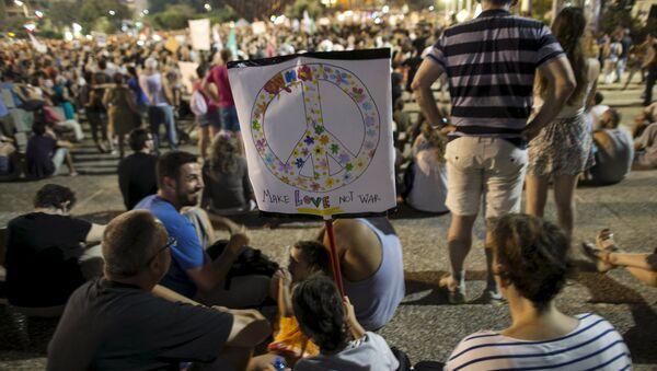 Protesta en Tel Aviv - Sputnik Mundo