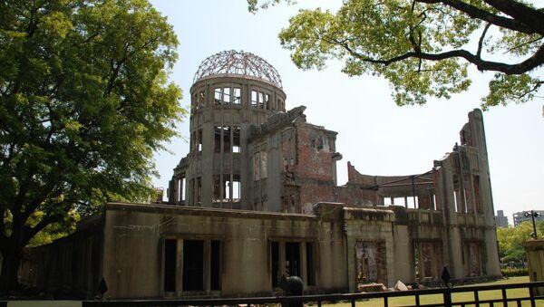 Casa dañada por explosión atómica en Hiroshima - Sputnik Mundo