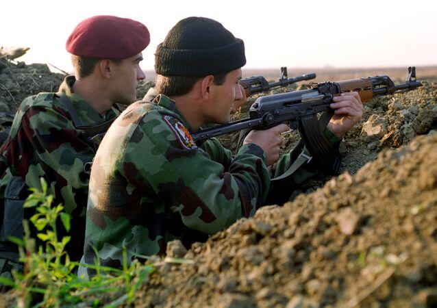 Soldados serbios durante Operación Tormenta