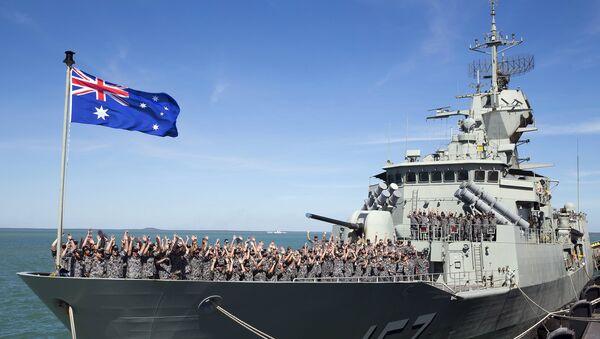 Equipo de buque HMAS Perth de Armada Real Australiana (archivo) - Sputnik Mundo