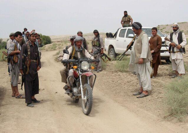 Policía local afgana
