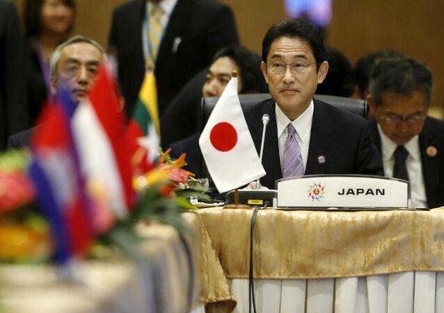 Fumio Kishida, ministro de Exteriores de Japón, durante el foro de la ASEAN en Kuala Lumpur