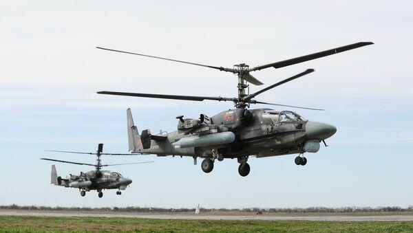Helicóptero de combate Ka-52 - Sputnik Mundo
