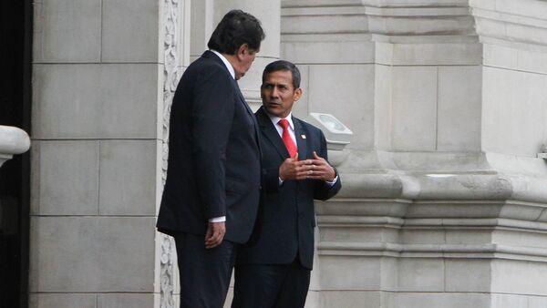 Presidente de Perú, Ollanta Humala y su antecesor, Alan García - Sputnik Mundo