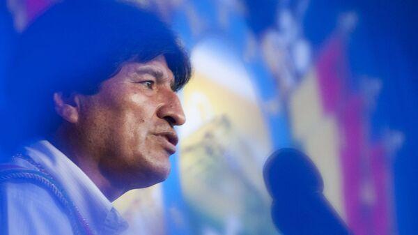 Bolivia's President Evo Morales speals during the 190th national anniversary celebrations in Trinidad, Bolivia, August 6, 2015 - Sputnik Mundo