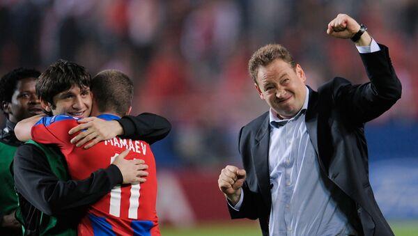 Leonid Slutski, técnico del club de fútbol CSKA de Moscú - Sputnik Mundo