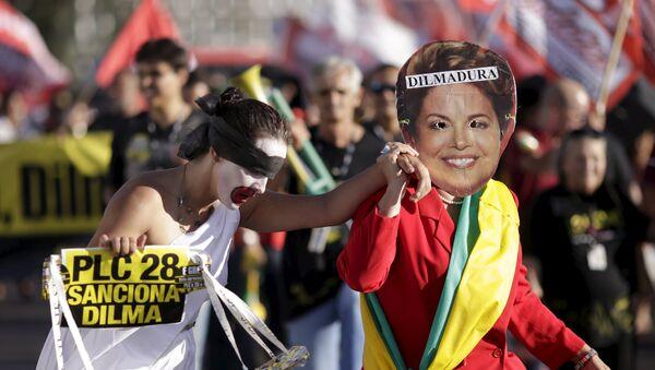 Protesta contra Dilma Rousseff en Brasil - Sputnik Mundo