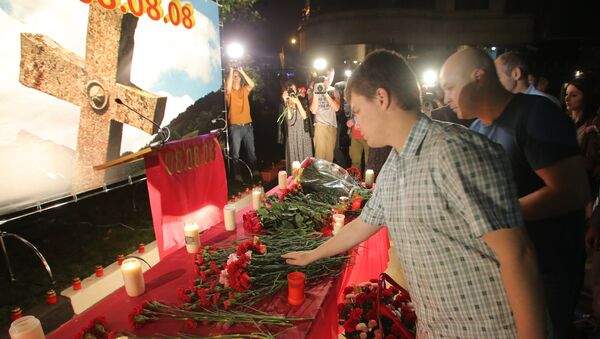 Osetia del Sur honra a víctimas de la guerra de agosto de 2008 - Sputnik Mundo