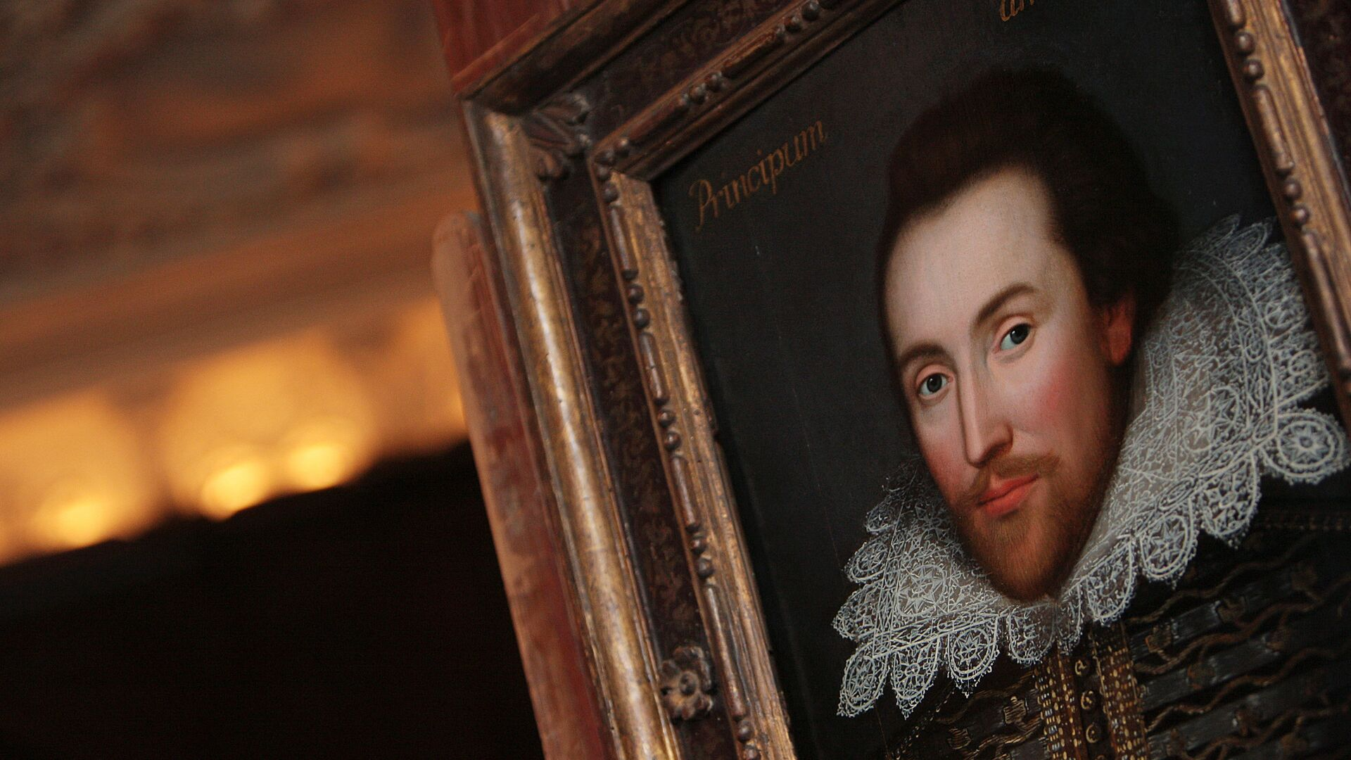 A portrait of William Shakespeare is pictured in London, on March 9, 2009.  - Sputnik Mundo, 1920, 28.05.2021