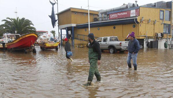 Inundación por el temporal en Chile - Sputnik Mundo