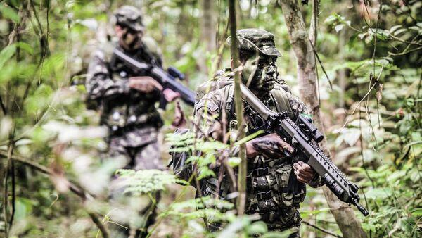 Soldados del Ejército Brasileño en la selva (archivo) - Sputnik Mundo