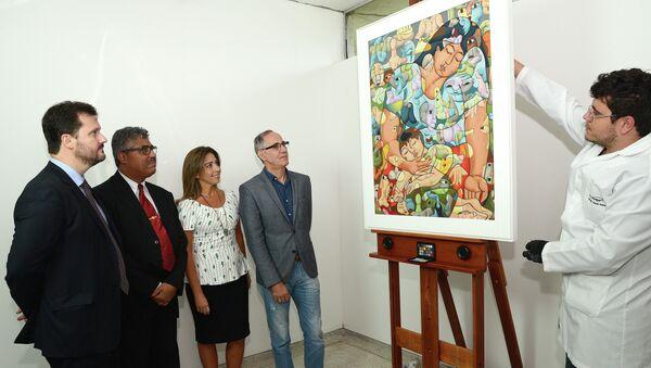 Una obra en el Museo Oscar Niemeyer de Curitiba incautada durante operación policial (Archivo) - Sputnik Mundo