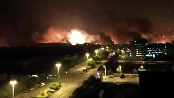 Explosión en la zona industrial de la ciudad china de Tianjin - Sputnik Mundo