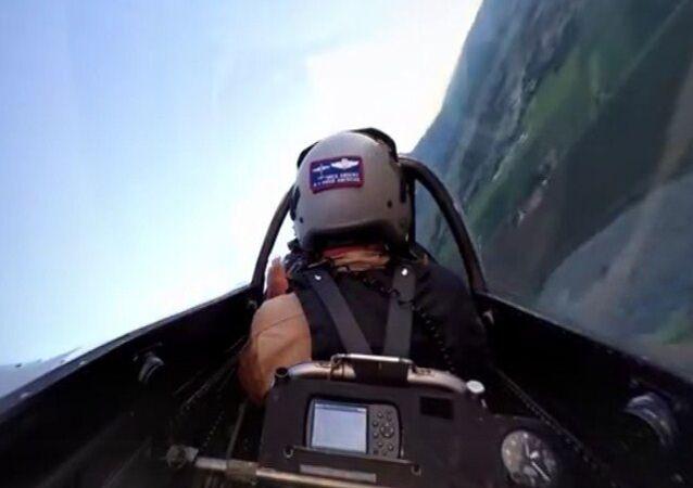 Vídeo panorámico a bordo de un P-51 Mustang
