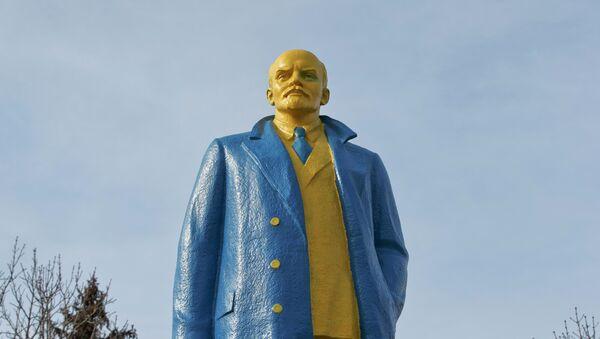 Estatua de Lenin en la ciudad ucraniana de Velika Novosilka - Sputnik Mundo