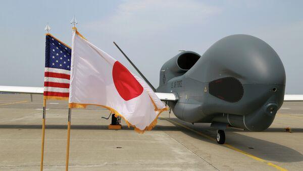 "UAV ""Global Hawk"" en la base militar de Misawa (al noreste de Japón) - Sputnik Mundo"