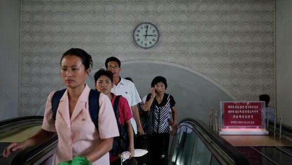 Estación de metro Kaeson en Pyongyang, Corea del Norte - Sputnik Mundo