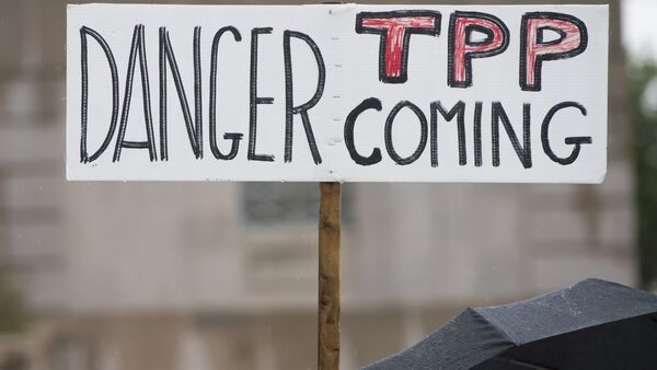 Miles de personas protestan en Nueva Zelanda contra el Acuerdo Transpacífico - Sputnik Mundo