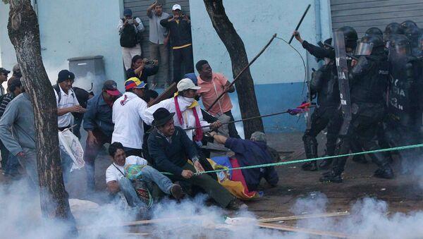 Manifestación de protesta en Ecuador - Sputnik Mundo