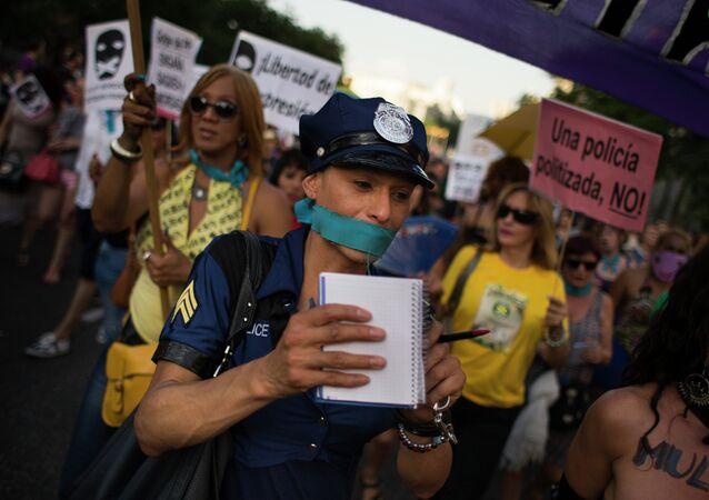 Protesta contra la 'ley mordaza' en Madrid, el 30 de junio, 2015