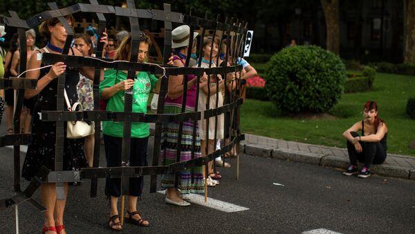 Protesta contra la ley mordaza en Madrid - Sputnik Mundo
