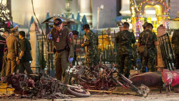 Lugar del explosión en el centro de Bangkok, Tailandia, el 17 de agosto, 2015 - Sputnik Mundo