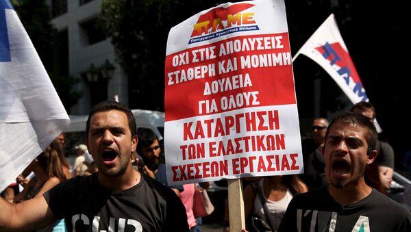 Las protestas en Grecia - Sputnik Mundo