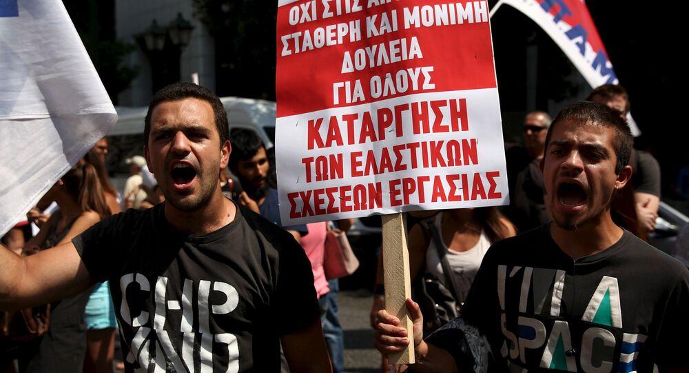Las protestas en Grecia