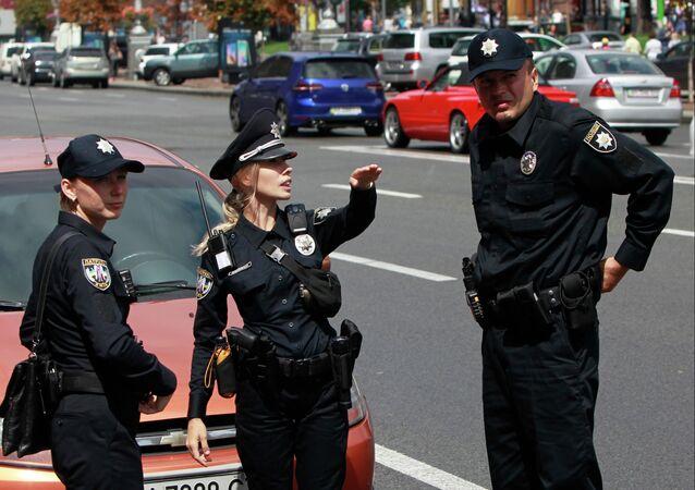 Policías ucranianos en Kiev