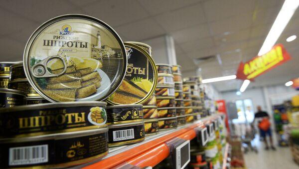 Conservas de sardinas ahumadas en aceite letones, sujetas al embargo alimentario ruso - Sputnik Mundo