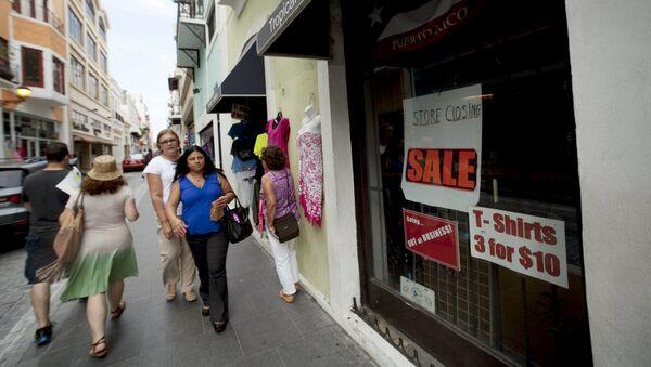 Una tienda cerrada en San Juan, Puerto Rico - Sputnik Mundo