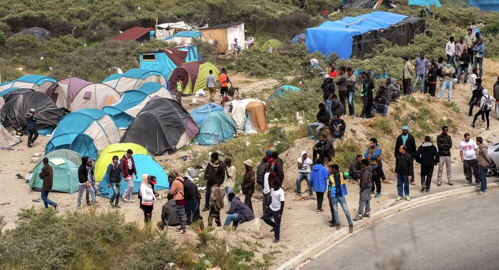 Los refugiados en Calais