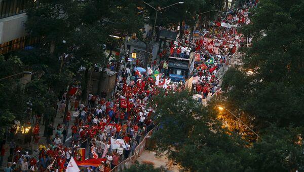 La manifestacion en Río de Janeiro - Sputnik Mundo