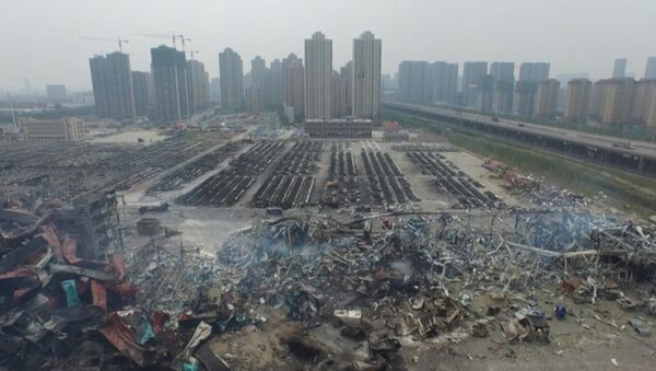 Lugar de la explosión de Tianjin a vista de dron - Sputnik Mundo