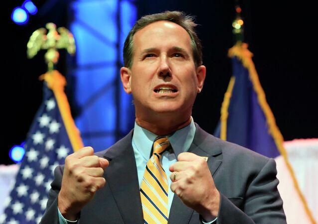 Rick Santorum, candidato a la presidencia de EEUU