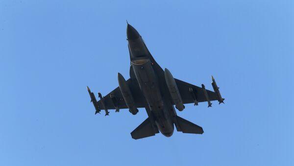 Caza F-16 de la Fuerza Aérea Turca - Sputnik Mundo