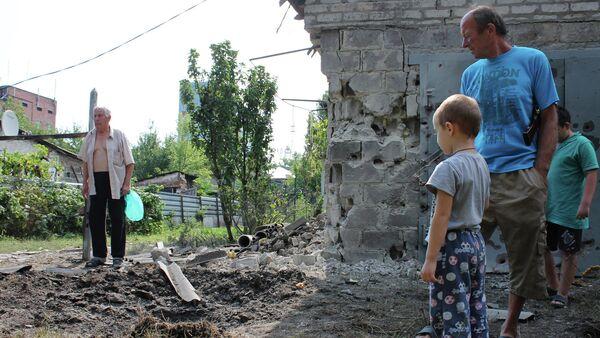 Consecuencias del bombardeo en Donetsk - Sputnik Mundo