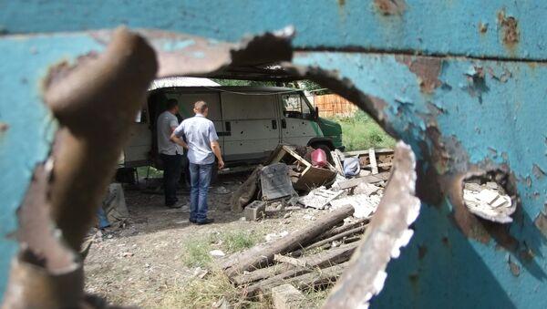 Resultado de un bombardeo ucraniano de Donetsk - Sputnik Mundo