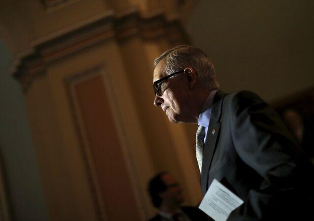 Harry Reid, líder de la fracción del Partido Demócrata en el Senado de EEUU