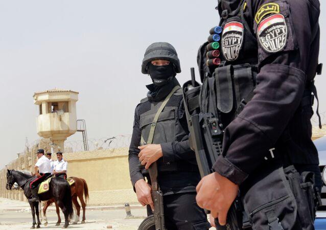 Policías egipcios