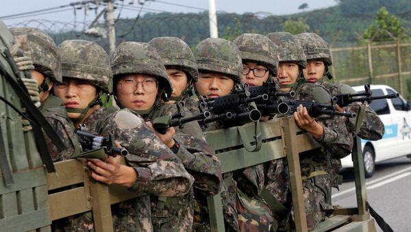 Soldados surcoreanos - Sputnik Mundo