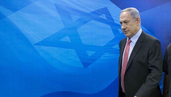 Israel's Prime Minister Benjamin Netanyahu arrives at the weekly cabinet meeting at his office in Jerusalem August 16, 2015. - Sputnik Mundo