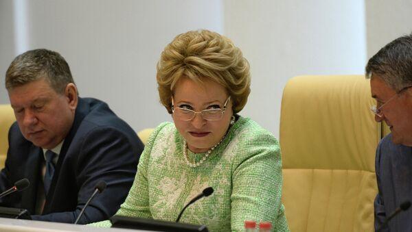 Presidenta del Senado ruso, Valentina Matvienko - Sputnik Mundo